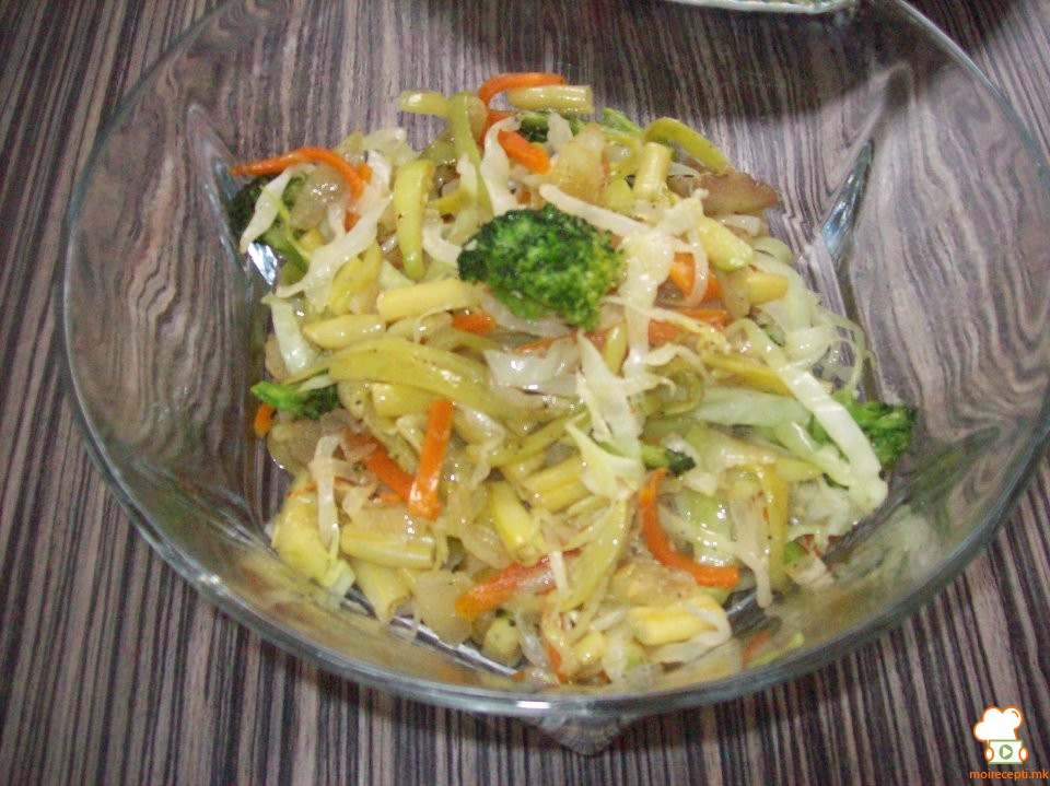 Пржен зеленчук на кинески начин