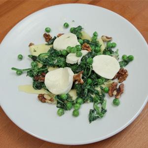 Видео рецепт: Лазањи со спанаќ, грашок и моцарела