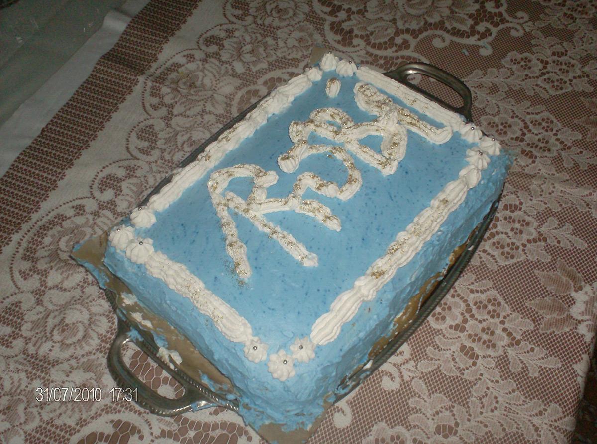 Роденденска Торта - приготвена од мојата мајка Бона за мој роденден
