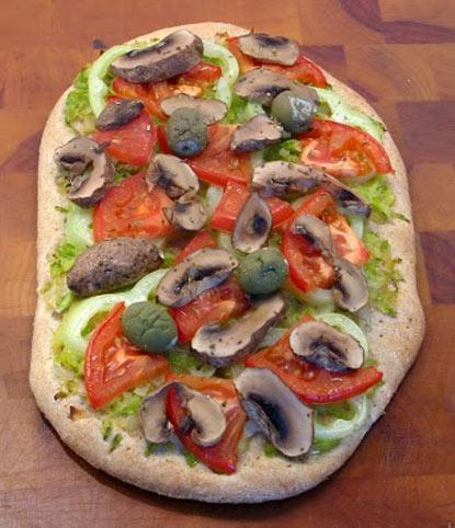 Интегрална пица со зеленчук