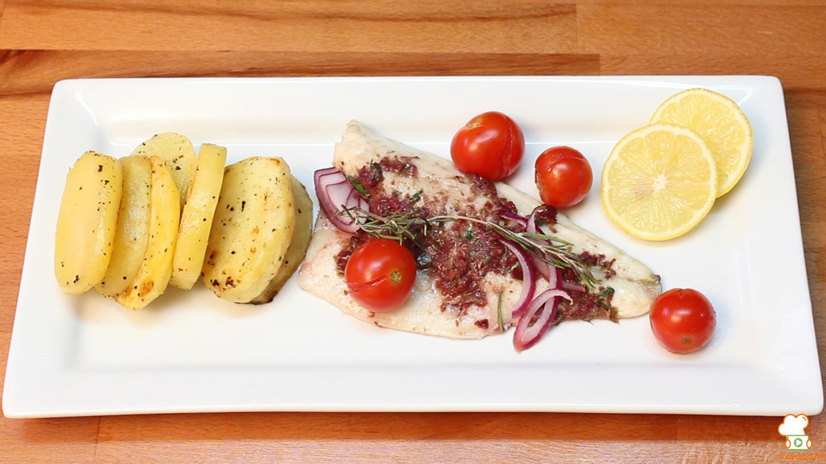 Видео рецепт: Лаврак со маслинова тапенада