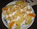 Палачинки со овошје и шлаг