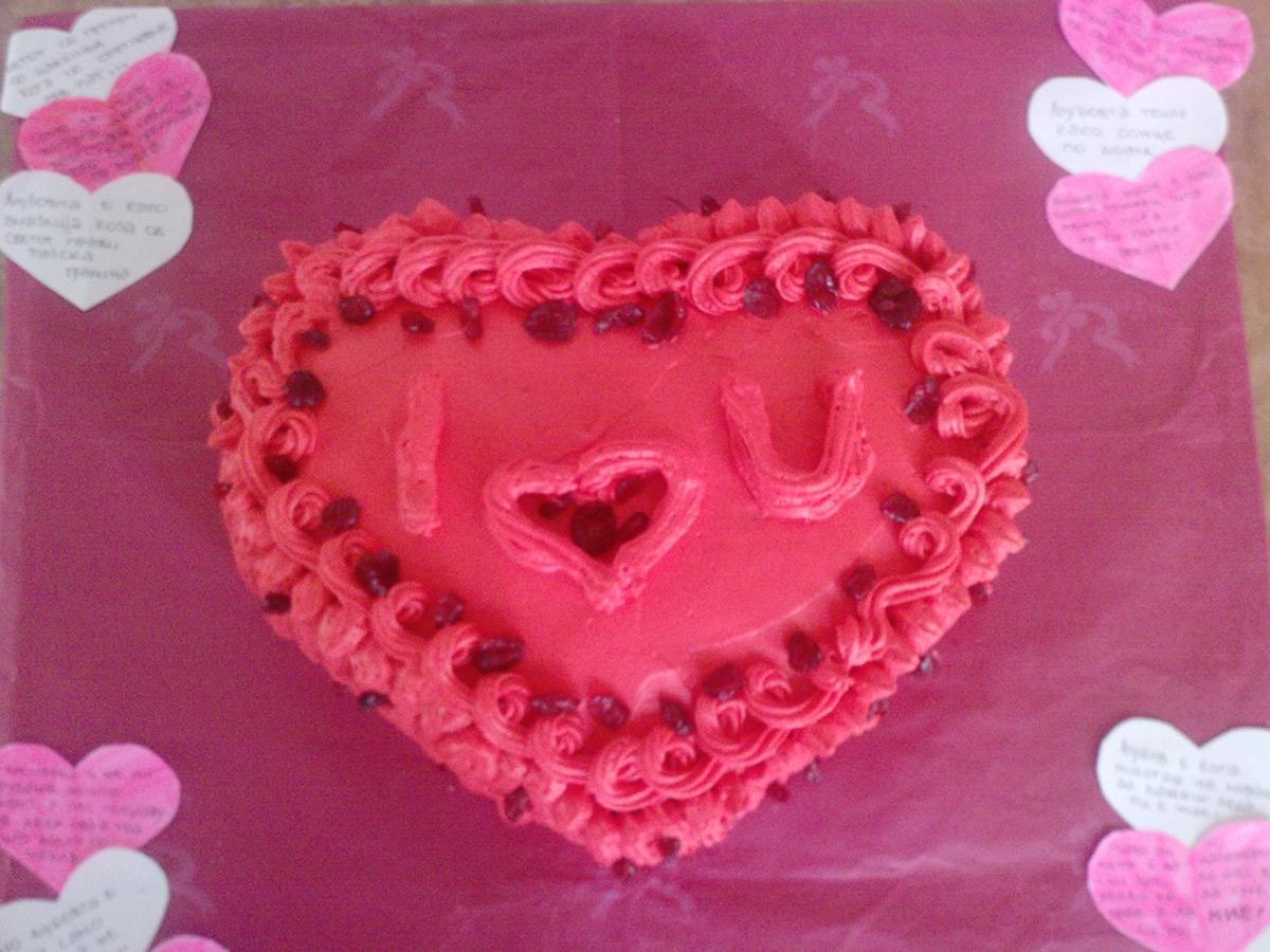 Ljubovna torta za dvajca