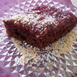 Посна торта медено срце