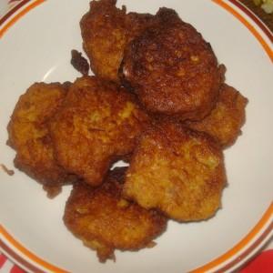 Ќофтиња со компир и брашно
