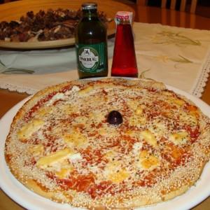 Македонска пица со четири типа на сирење