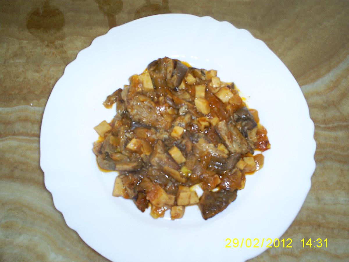 Печурки буковка со кромид и сланина