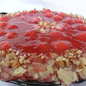 Посна јагодова торта (без масло)