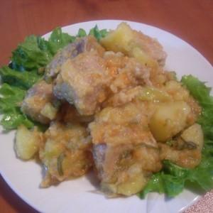 Свинско месо со зеленчук
