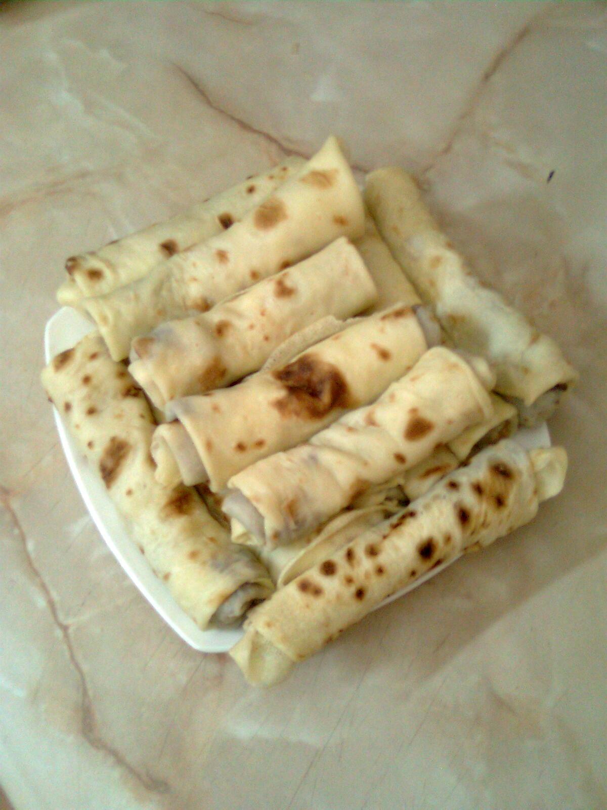 Палачинки со банана и крем