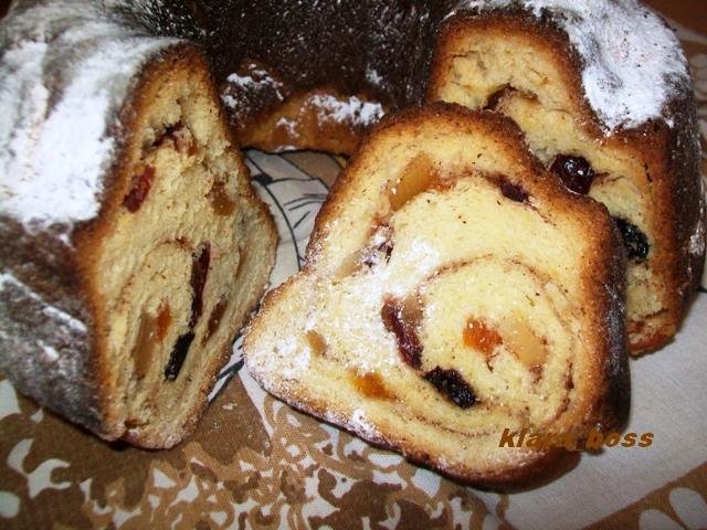 Велигденски колач со кандирано овошје