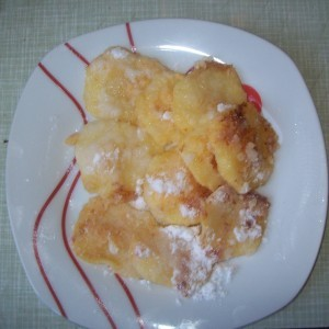 Пржени јаболка со ванила