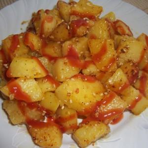 Печени компири со сусам