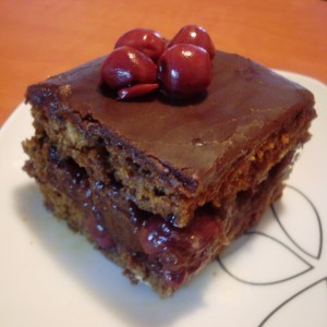 Посна торта со вишни