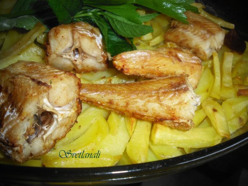 Печен ослич со компир