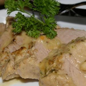 Свинско со сос (печено во пиво)