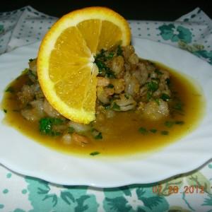 Ракчиња во сос од портокал
