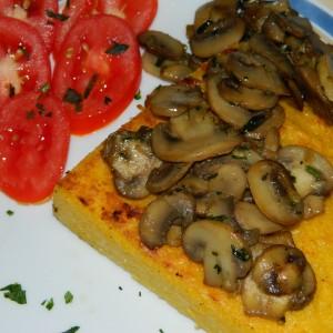 Палента и печурки