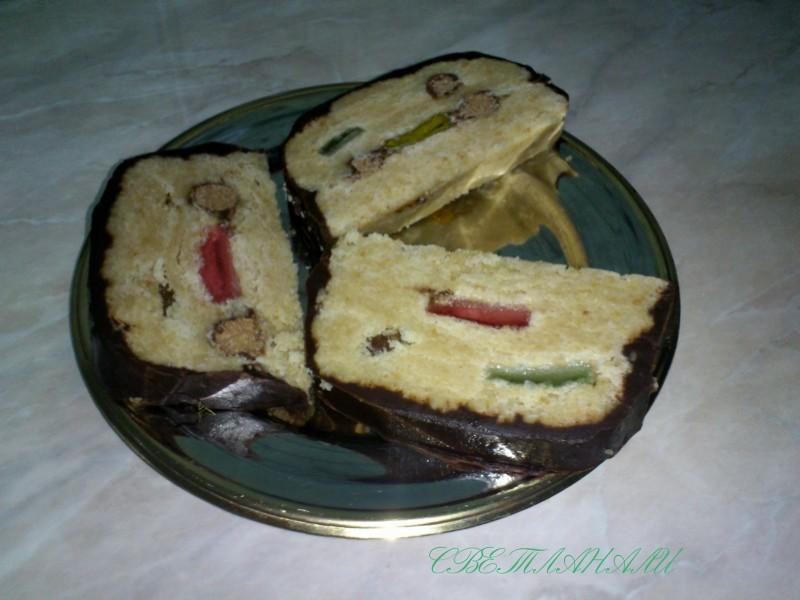 Непечен колач со мелени бисквити