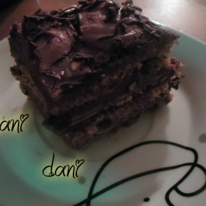 Чоколадна торта со боровинки