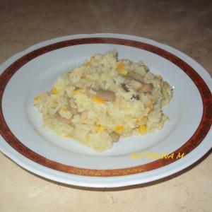 Рижото од пченка и соја трошки