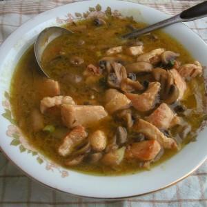 Пилешки стек во крем супа