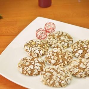 Видео рецепт: Чоколадни Бисквити (Chocolate hazelnut crinkles)
