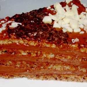 Чоколадна нугат торта