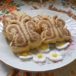 Ванилици пеперутки (со какао и јајца)