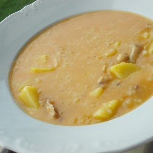 Чорба со батаци, компири и ориз