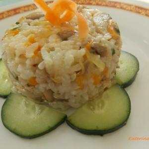 Ориз со пилешко и печурки