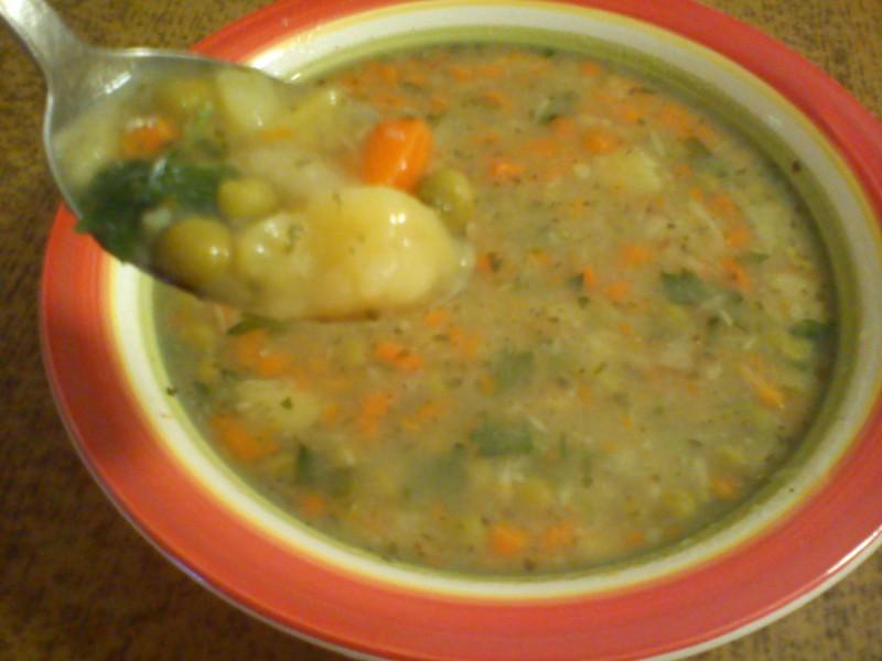 Посна чорба со зеленчук (без масло)