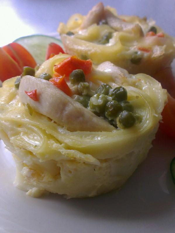 Мафини од Таглиатели со пилешко месо