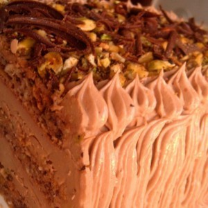 Чоколадна торта со фстаци