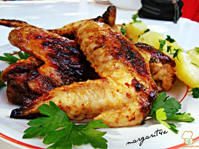 Маринирани пилешки крилца