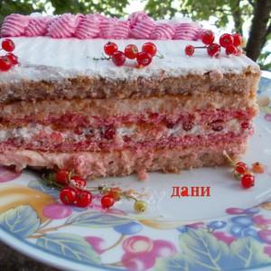 Пролетна овошна торта