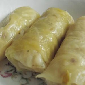 Сарма со мелено месо и праз