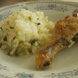 Ориз со пилешки копани и нане