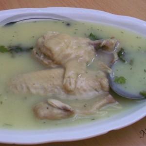 Каша со пилешки крилца