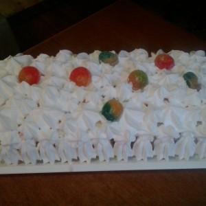 Пудинг торта со малина и ванила