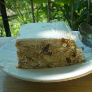 Ледена торта со бисквити и мармалад