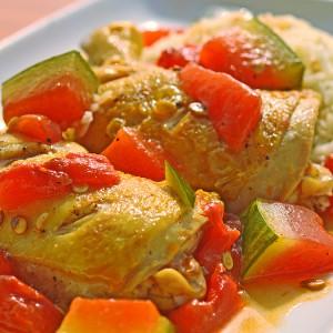 Видео рецепт: Пилешко со лубеница