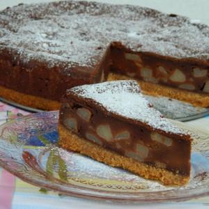 Чоколаден чизкејк со круши