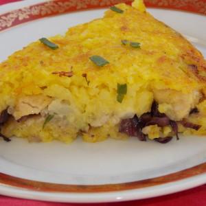 Ориз торта со пилешко и карфиол