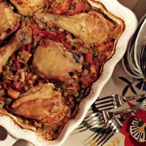 Шпански ориз со пилешко