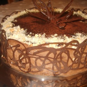 Чоколадна торта потопена во чоколадно млеко