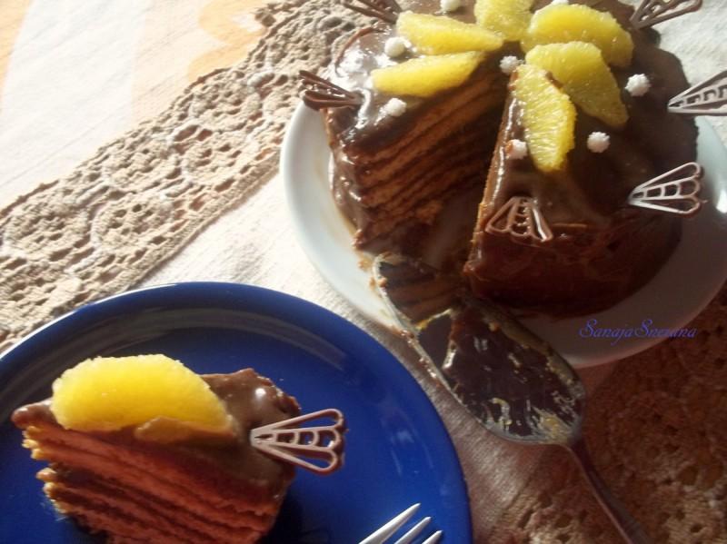 Чоколадна торта во слоеви