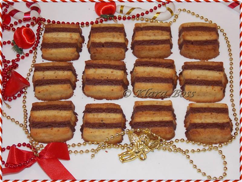 Зебра колачи со капучино, бадеми и портокал