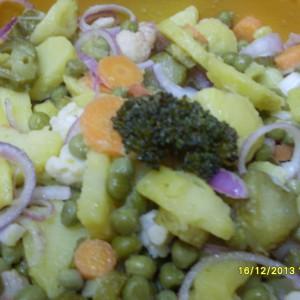Посна салата со кисел карфиол