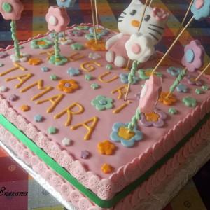 Роденденска торта Hello Kitty
